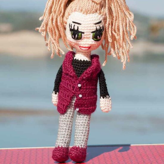 Crochet Doll Pattern Bella Amigurumi Doll Cute Girl Pattern ... | 550x550